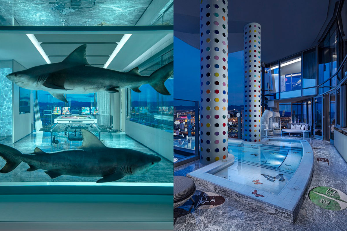 Damien Hirst Designed A 100 000 Per Night Suite At The Palms In Las Vegas Artsy