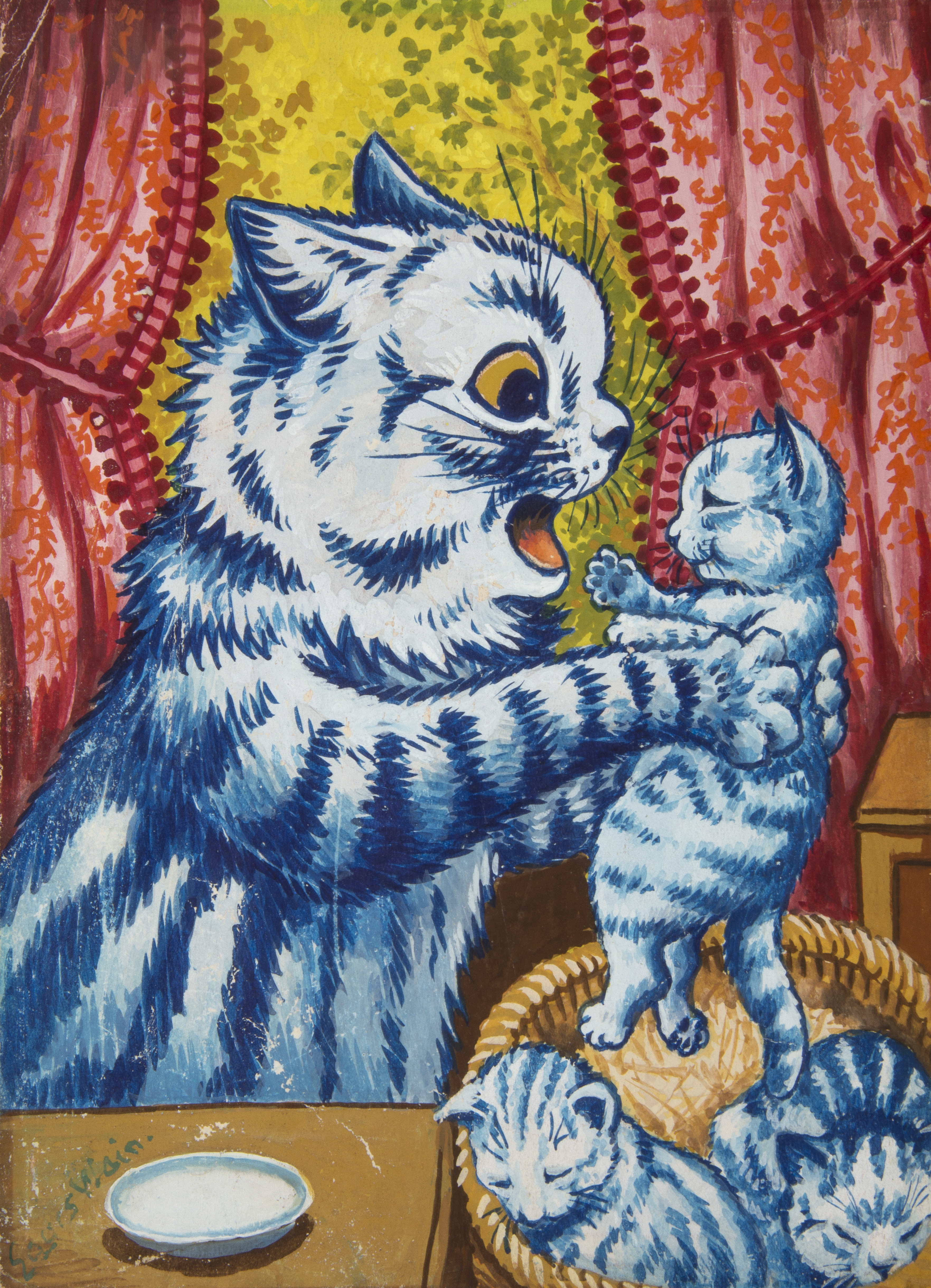 The Colorful, Dancing, Psychedelic Cats of Louis Wain - Artsy