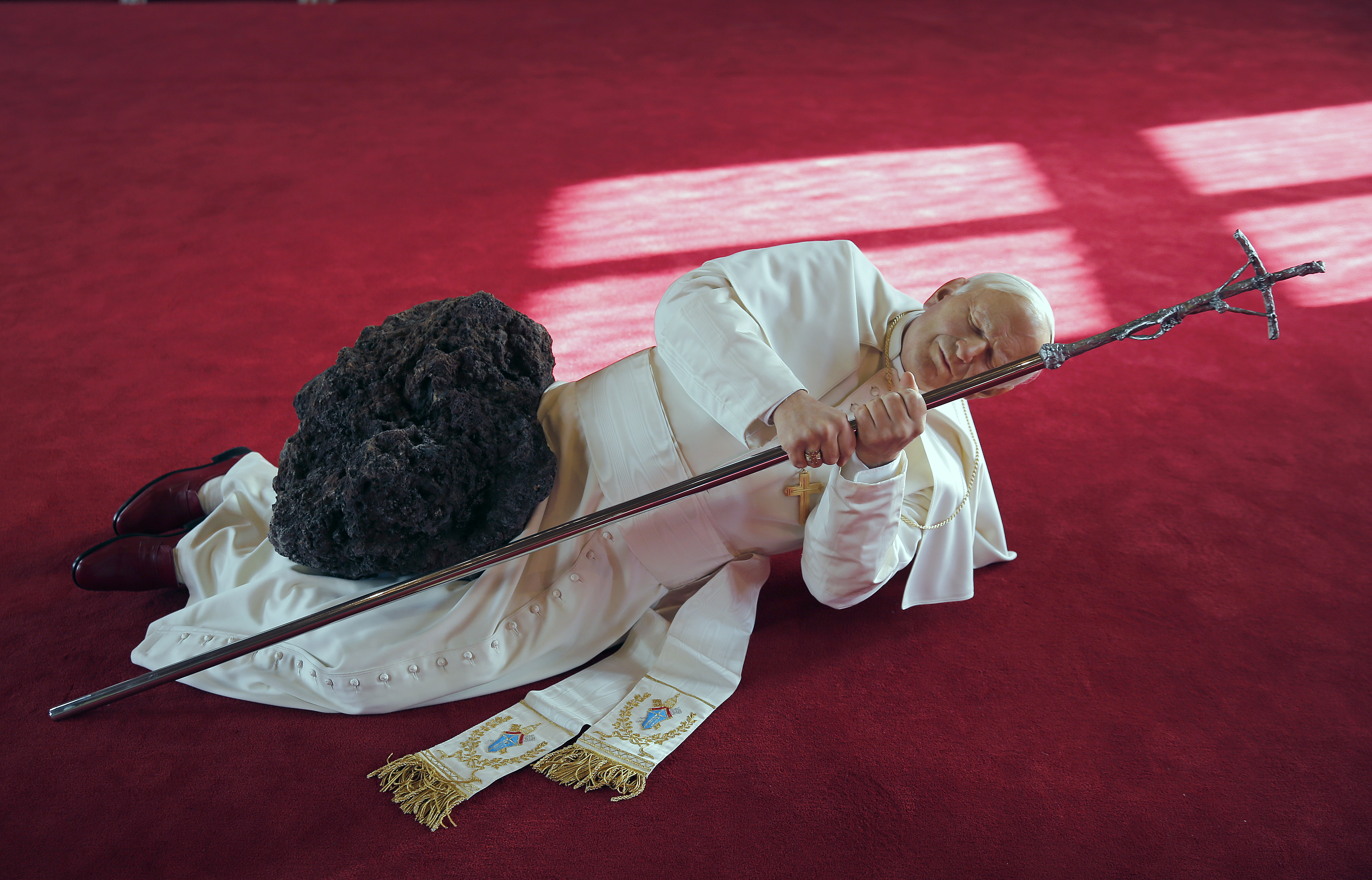 Revisiting Maurizio Cattelan's Sculpture of the Pope Struck by a