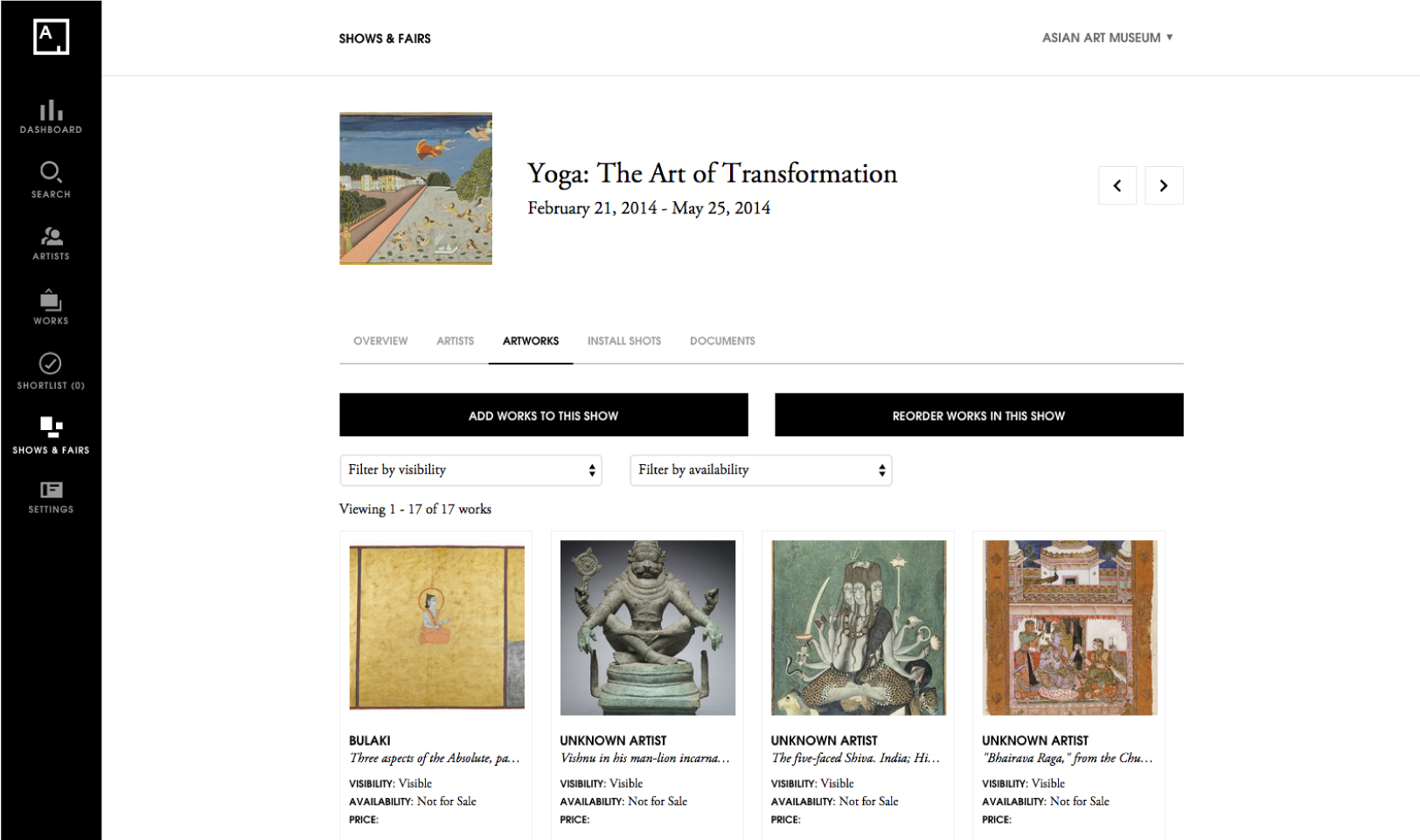 Institution Partnerships Artsy - Museums for sale in us
