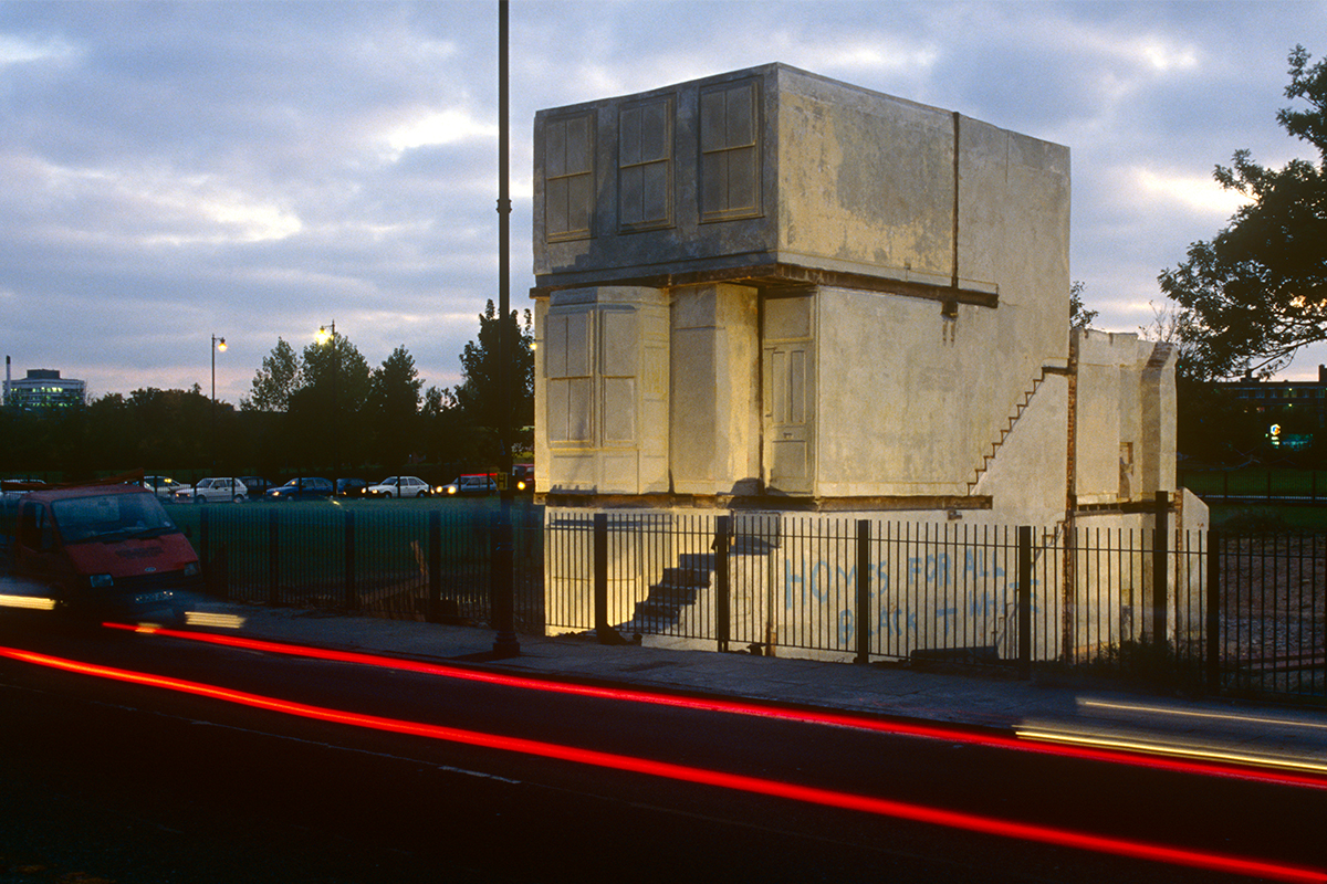 """Rachel Whiteread's """"House"""" Was Unlivable, Controversial, and"""