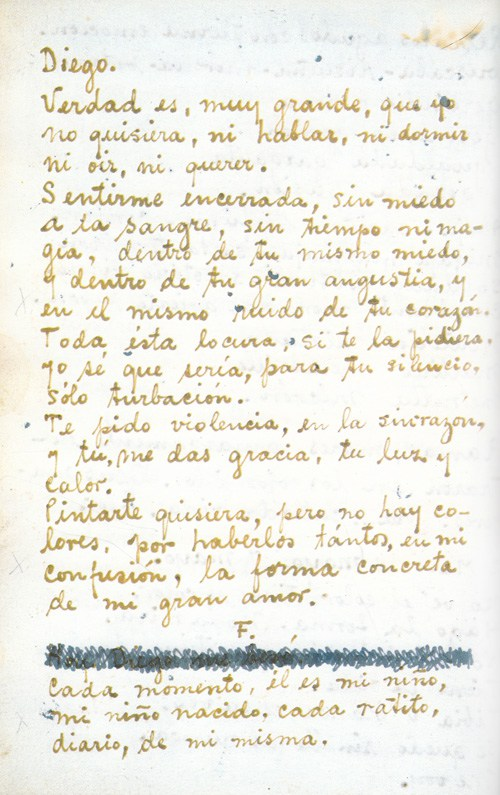 Frida kahlos love letters to diego rivera reveal their volatile frida kahlos love letters to diego rivera reveal their volatile relationship artsy spiritdancerdesigns Image collections
