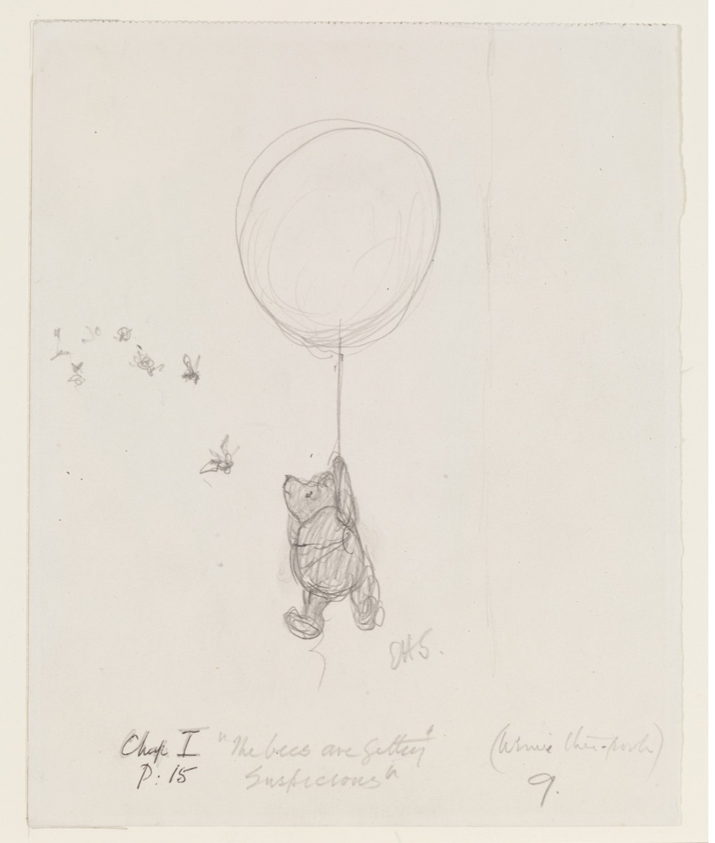 Winnie the poohs 90 year journey from pencil sketch to disney icon artsy