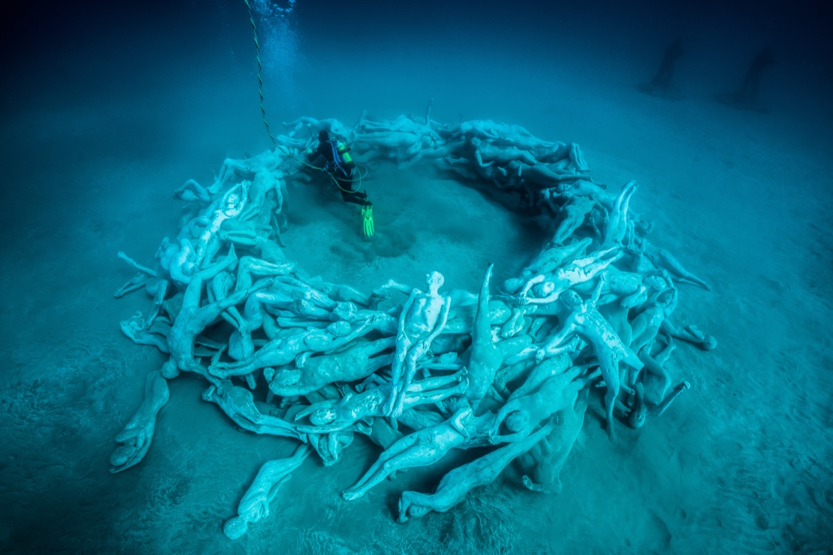 dive into europe s first underwater sculpture museum artsy