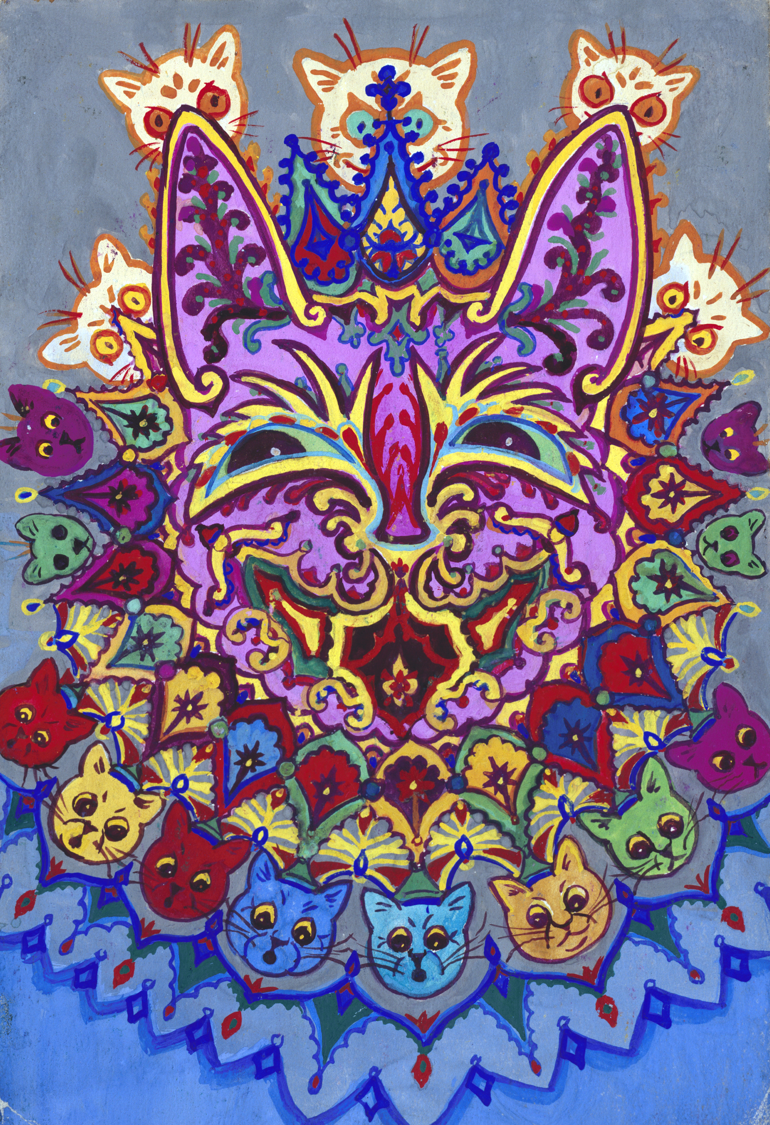 The Colorful Dancing Psychedelic Cats Of Louis Wain Artsy