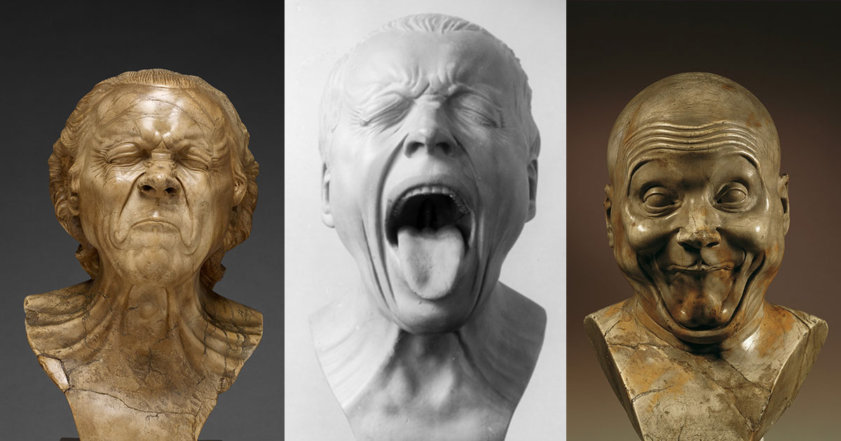 These Bizarre 18th-Century Sculptures Catalog 64 Human Emotions