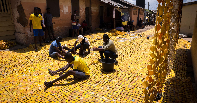 Serge Attukwei Clottey Is Building a Yellow Brick Road in